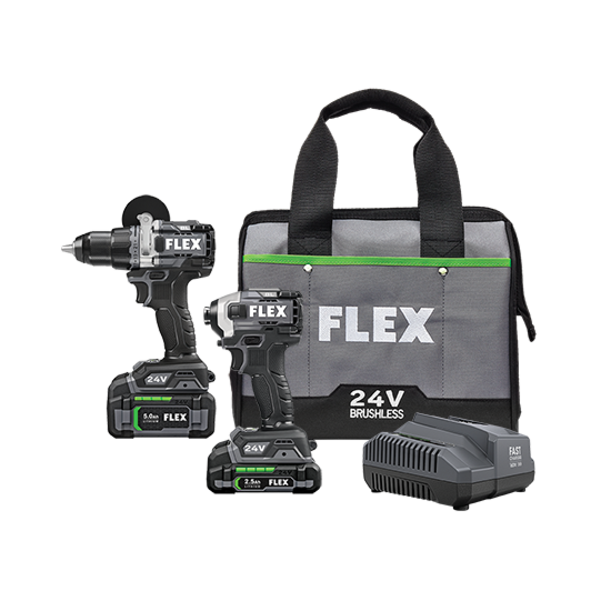 DRILL DRIVER WITH TURBO MODE AND QUICK EJECT IMPACT DRIVER KIT