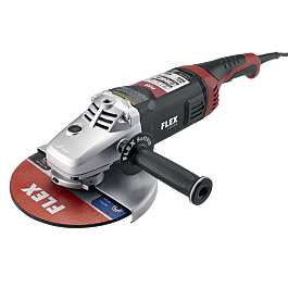 15 Amp 9 inch Large Angle Grinder with Trigger Lock-On Switch