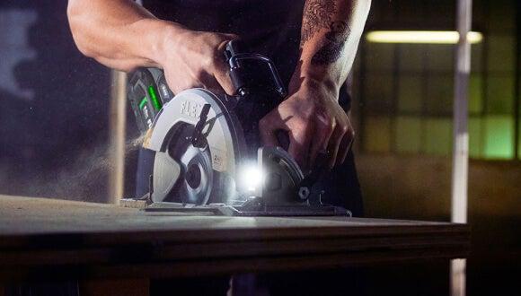 "FLEX 7¼"" Circular Saw in use"