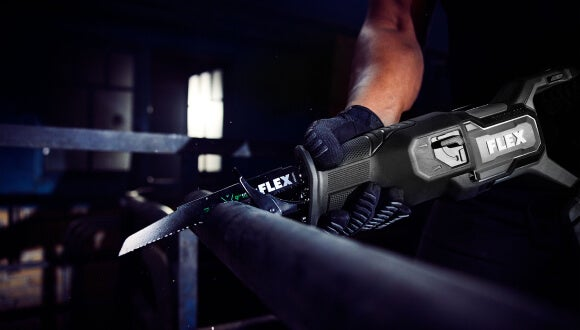 FLEX Reciprocating Saw in use